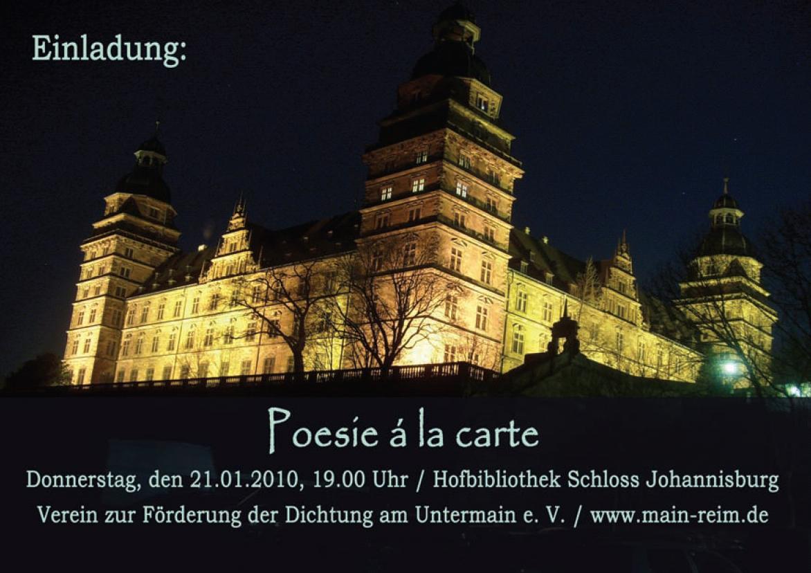 Lesung am 21.01.2010 | Hofbibliothek Schloss Aschaffenburg